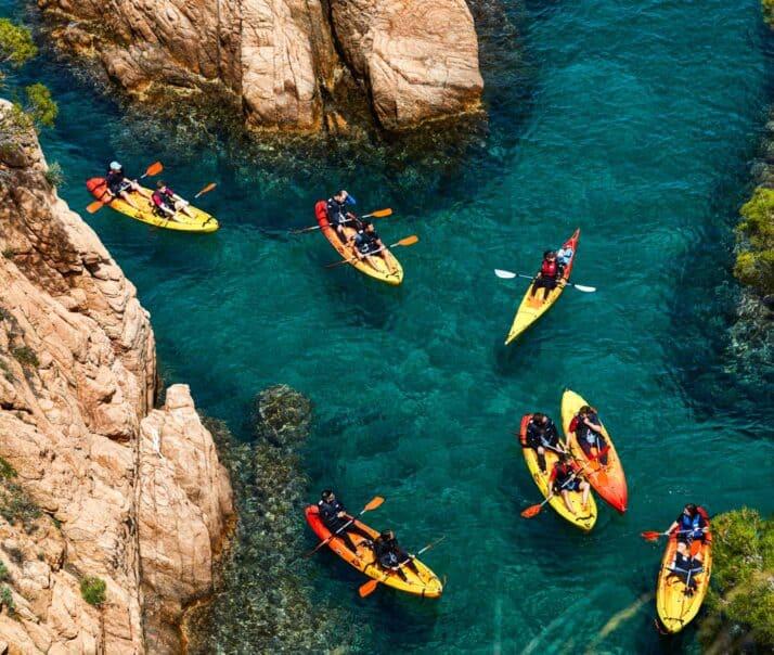 Atlantis students kayaking in Spain (Barcelona, 2019).