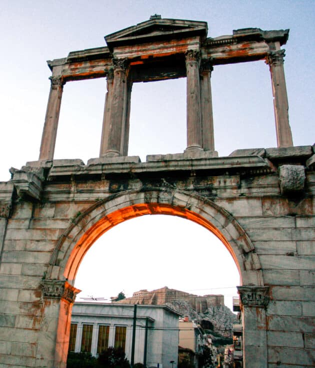 An arch in the city.