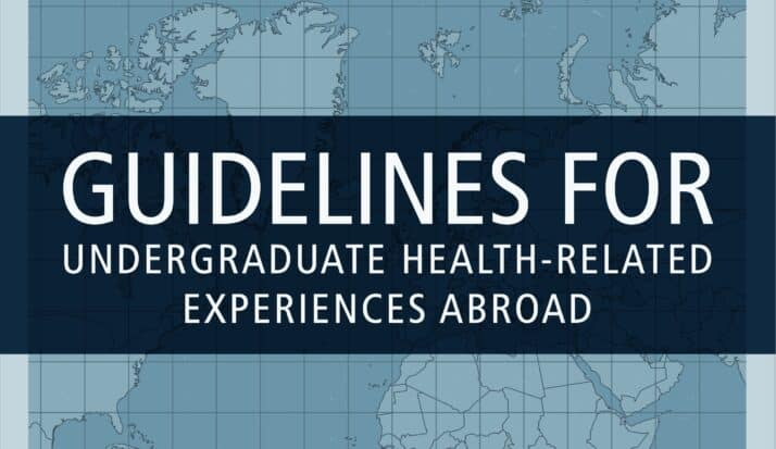 Guidelines for Undergraduate Health Title Page.