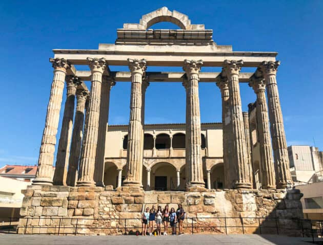 Diana's temple in the city of Merida.