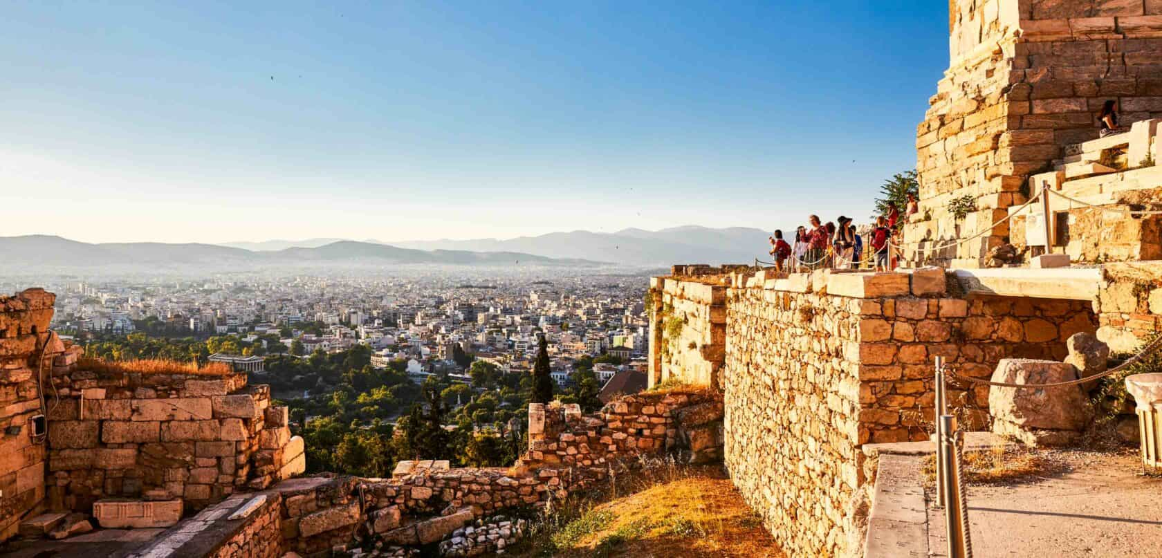 A view of Athens from a mountain.