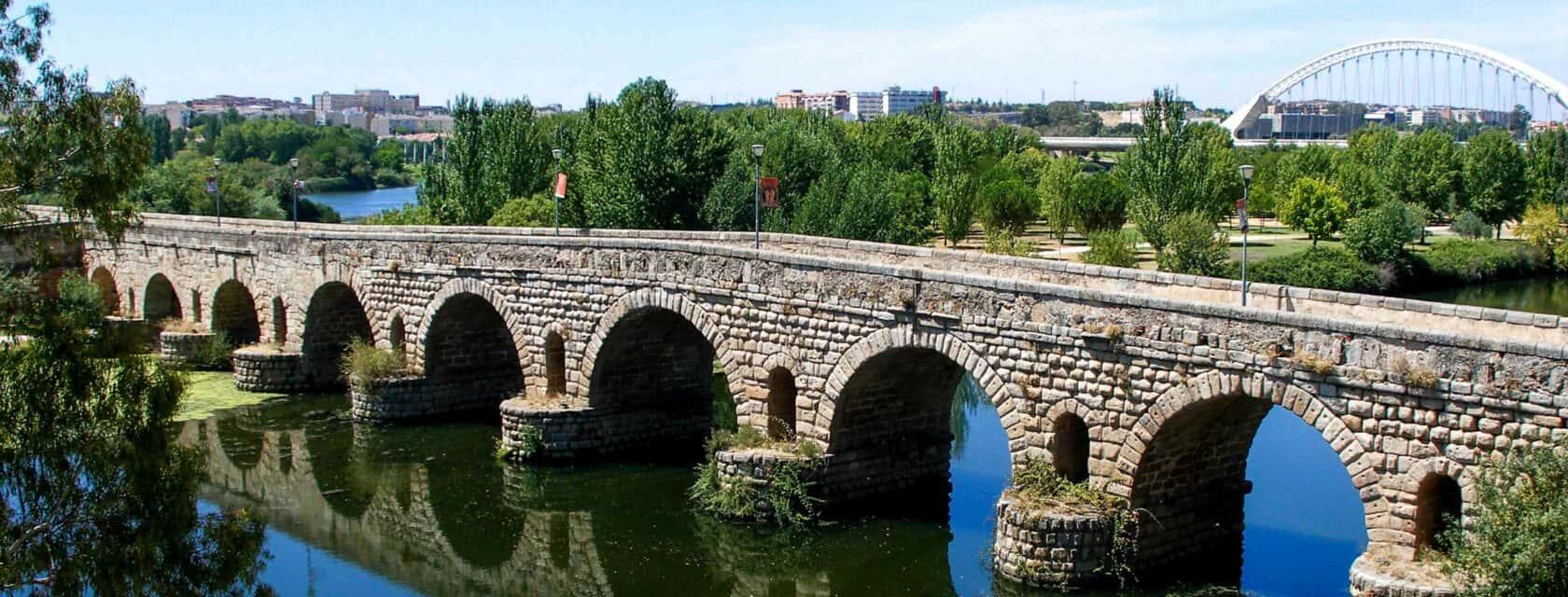 Aqueducts in the city of Merida.