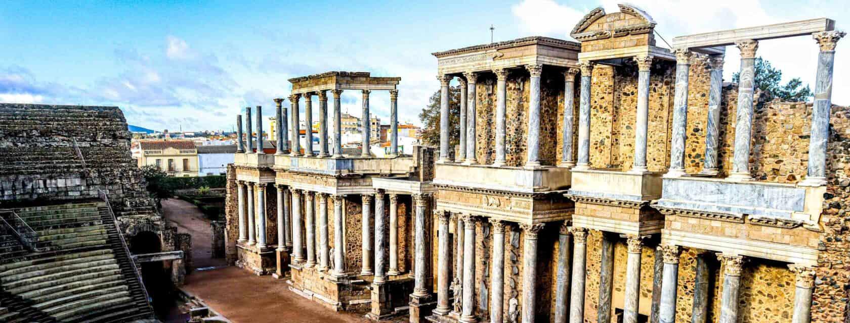 Roman architecture in the city of Merida.