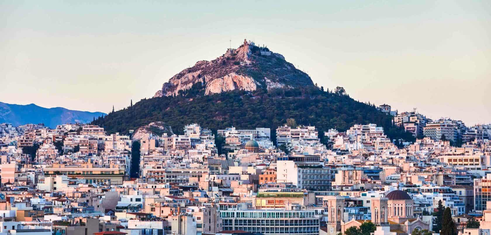 A view of the city of Athens.