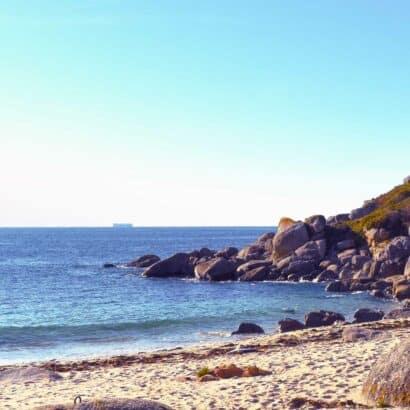The coastline of pontevedra.