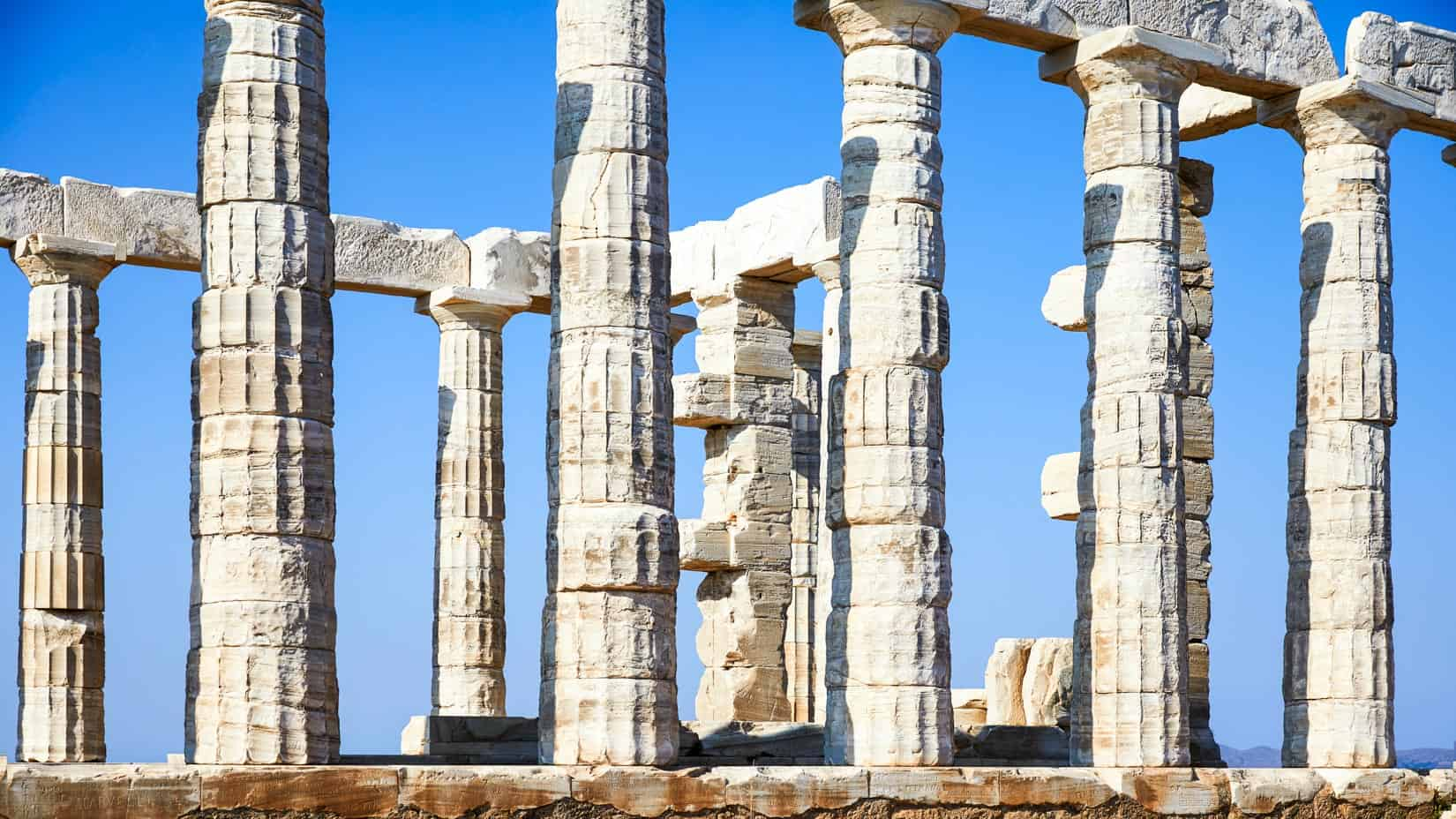 Greek columns.