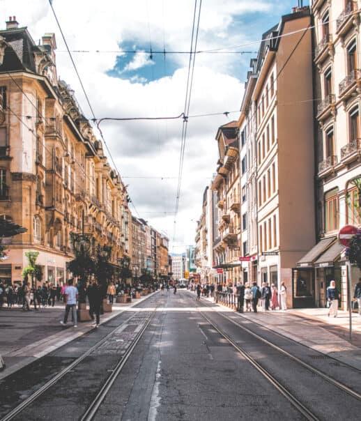 A street in Geneva.