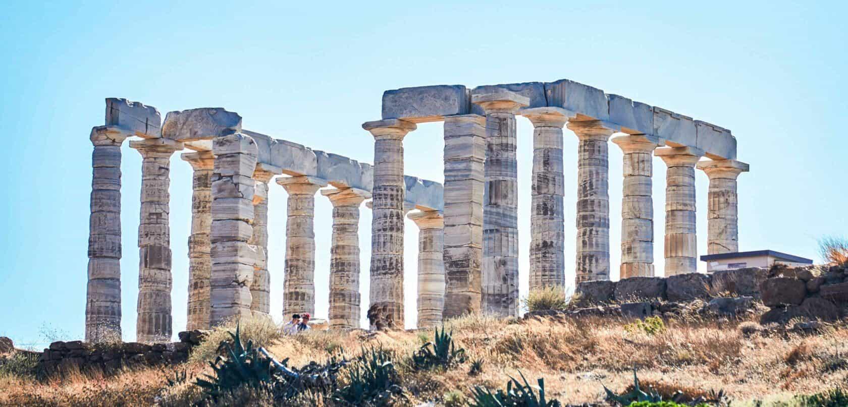 Greek columns in Athens, Greece.