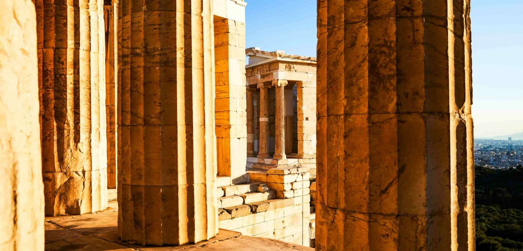Greek ruins on a program excursion.